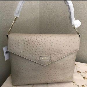 NWT Kate Spade leather cream shoulder bag